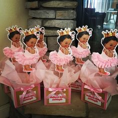Geschenk Geburt - This listing is for 1 centerpiece or a 3 piece set. Buy separate or as a set of . Baby Girl Shower Themes, Girl Baby Shower Decorations, Baby Shower Princess, Princess Party, Table Decorations, Royal Princess, Shower Baby, Baby Girl Centerpieces, Princess Centerpieces
