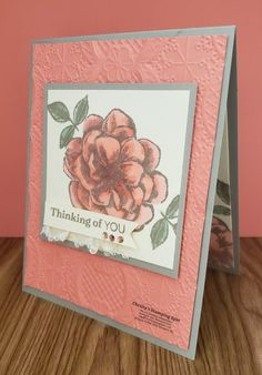 Sentimental Rose - April's Gorgeous Paper Pumpkin Kit Stamp Set by - Cards and Paper Crafts at Splitcoaststampers Stampin Up Paper Pumpkin, Pumpkin Cards, Wink Of Stella, Stamping Up Cards, Pretty Cards, Card Sketches, Flower Cards, Homemade Cards, Birthday Cards