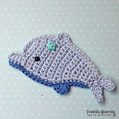 Dolphin applique crochet pattern - Allcrochetpatterns.net