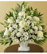 Funeral Flowers from MY BELLA FLOWER - your local Los Angeles, CA florist and flower shop. Order sympathy and funeral flowers directly from MY BELLA FLOWER - your local Los Angeles, CA florist and flower shop to save time and money. Funeral Floral Arrangements, Easter Flower Arrangements, Vase Arrangements, Beautiful Flower Arrangements, Beautiful Flowers, Altar Flowers, Church Flowers, Funeral Flowers, New Flowers Photos