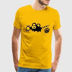 Mouse Rat Catpaw Design Shirt Fun Cool  - Men's Premium T-Shirt