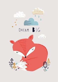 sweet fox poster printed on 250 gram FSC biotop environmentally friendly inkt 21 x cm wrapped with cardboard and transparant bag Aless Baylis for Petite Louise Fuchs Illustration, Cute Illustration, A4 Poster, Woodland Creatures, Nursery Art, Dream Big, Cute Wallpapers, Cute Art, Kids Room