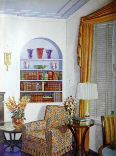 Living Room Featured In Pittsburgh Plate Glass Ad From Home Owners Catalog 1936
