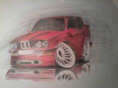 Bmw E30 Cartoon Car