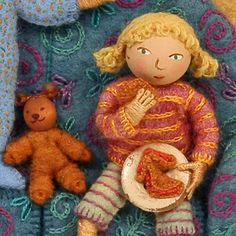 little person, bear and goodies!