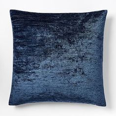 Ribbed Shine Pillow Cover - Midnight #westelm #diypillowcoversdesigns