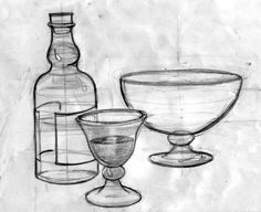 Basic Class 4 - Drawing Cylindrical Objects The Classroom Pencil Art Drawings, Art Sketches, Easy Drawings, Easy Still Life Drawing, Object Drawing, Drawing Drawing, Pencil Shading, Be Still, Objects