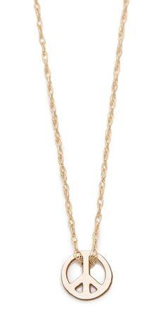 ginette_ny Mini Peace Necklace | SHOPBOP