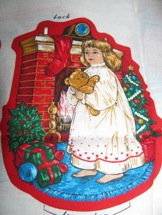 Stuffed Christmas Fabric Ornaments Santa Claus by TheIDconnection, $20.00