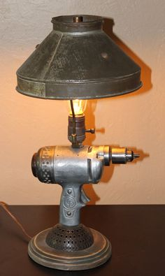 Old Drill Motor Desk Lamp