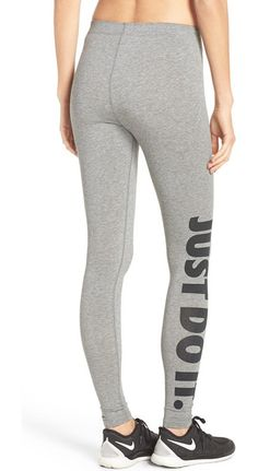 On SALE at 25% OFF! 'leg-a-see' jersey leggings by Nike. Nike's iconic, ever-encouraging slogan gives extra athletic gusto to these supersoft cotton-blend lettings.