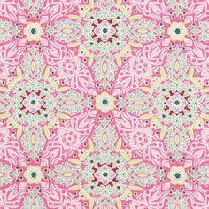kankaita.com Gütermann ring a roses Long Island Garden 2 - Puuvilla - pink