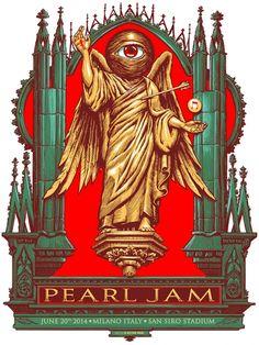 2014 PEARL JAM 20/6 MILAN POSTER