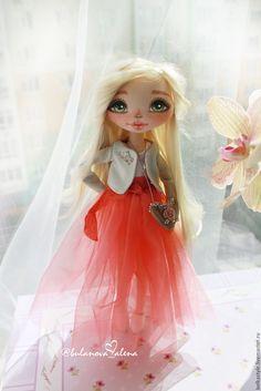 Купить Солнечная девочка :-) - коралловый, розовый, фатин, принцесса, кукла, кукла на заказ