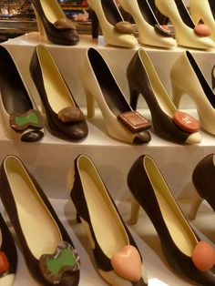 Edible chocolate shoes