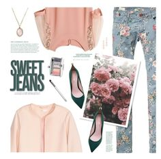 """""""Dress up my Jeans!"""" by kearalachelle ❤ liked on Polyvore featuring Irene Neuwirth, Scotch & Soda, Jakke, Clinique and Rebecca Minkoff"""