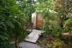 This is what my tropical yurt b&b could look like, except lusher with pops of color!
