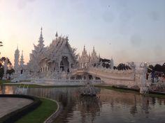 beautiful temple RongKhoon Chiangrai Thailand