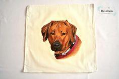 Ręcznie malowane poszewka z psem. #pies #ręczniemalowane #poduszka #poszewka #dog #pillowcase #handpainted #handmade