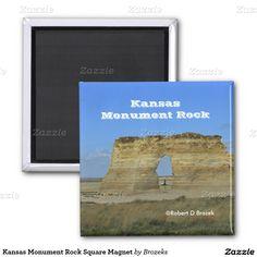 Kansas Monument Rock Square Magnet
