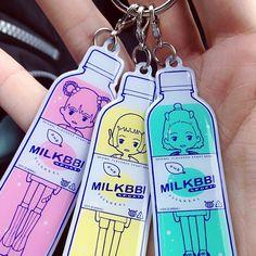 milkbbi:   my girls~~ milkbbi keychains from heychickadee.com