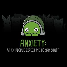 Anxiety: Talking - This t-shirt is only available at TeeTurtle! Exclusive graphic designs on super soft 100% cotton tees.