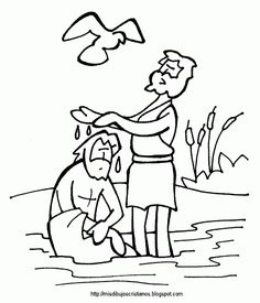 Jesus is Baptized - Bible Coloring Pages | Bible, Color sheets and ...