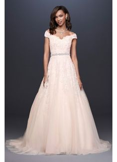 12573f66fb34 Applique Off-the-Shoulder Ball Gown Wedding Dress 4XLWG3940 Plus Size  Wedding, Davids