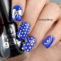 ssunnysideup: Bow and jewels nails with studs by bornprettystore and KIKO polish