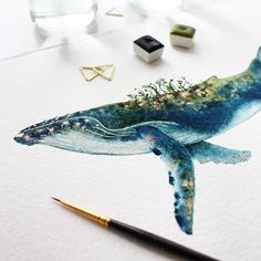 Enchanting Watercolor Whale Paintings Capture the Magic of Ocean Life Watercolor Whale Illustrations Capture the Magic of Ocean Life Whale Drawing, Whale Painting, Watercolor Whale, Watercolor Artwork, Painting & Drawing, Octopus Drawing, Whale Illustration, Watercolor Illustration, Painting Inspiration
