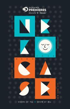 Pandora Premieres Show Poster, Neko Case #Pandora #music