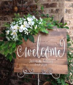 """Welcome to our always"" Name & date Wedding Welcome Sign, Wedding Signs, Welcome Sign, Welcome Wooden Wedding, Sign…"