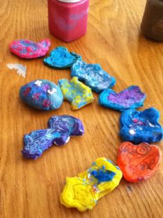 Play Doh, baked and painted