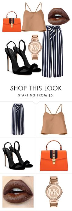 """""""Work day #53"""" by glamourfashionqueen on Polyvore featuring Monsoon, TIBI, Giuseppe Zanotti, Gucci and Michael Kors"""