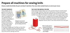 Needles and thread for sewing stretch ...Threads magazine