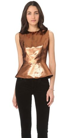 (Limited Supply) Click Image Above: Camilla And Marc Bonaparte Foil Peplum Top