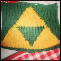 Triforce Legend of Zelda knit fingerless gloves fan art made to order Legen...