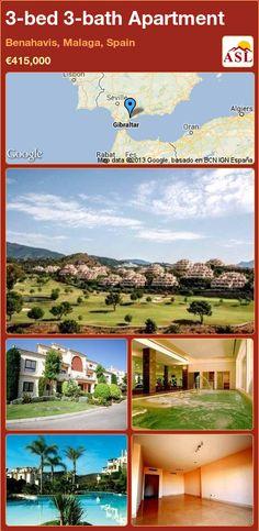 3-bed 3-bath Apartment in Benahavis, Malaga, Spain ►€415,000 #PropertyForSaleInSpain