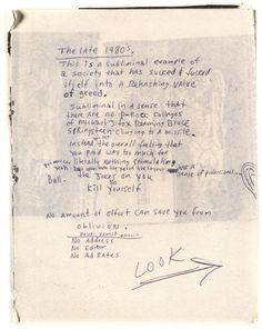 Happy Birthday, Kurt Cobain: Peek Inside the Icon's Journals   Brain Pickings