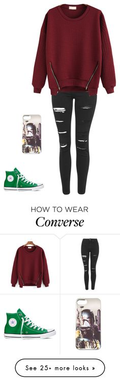 """""""Untitled #967"""" by laylahnisoutfits on Polyvore featuring Converse and Topshop"""