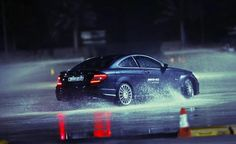 Participants spent five days maximizing their driving techniques on snow and ice at the AMG Winter Sporting Pro.