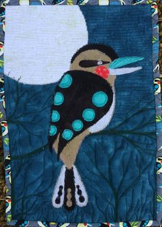 A group of art quilters and textile artists from all over the world create a challenge quilt every two months to a set theme. Textile Artists, Textiles, Quilts, Bird, Flowers, Patch Quilt, Kilts, Birds, Log Cabin Quilts