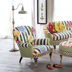 MacKenzie-Childs - Cutting Garden Accent Chair