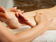 Receive a foot massage during your body treatment