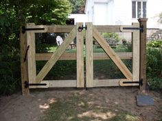 fence ideas, double gate.