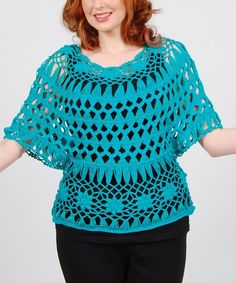 This scoop neck top accents ensembles with a layer of chic style. Slip it on and bask in the delicate beauty of its crocheted design. Size note: This item runs small. Please refer to the size chart. Styling note: This item is sheer. We recommend wearing with a camisole.