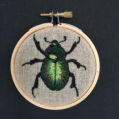 Een persoonlijke favoriet uit mijn Etsy shop https://www.etsy.com/listing/289907997/embroidery-hoop-beetle