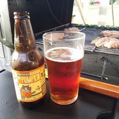 Nothing welcomes a fall afternoon like grilling burgers with a @mothersbrewing Mr. Pupmkin. #cheersKC #DrinkMOBeers #FallBeer
