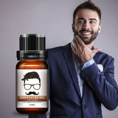 Lanthome Natural Beard Oil Moisturizing Facial Hair Moustache Oil For Styling Growing Smoothing Gentlemen Beard Care Beards And Mustaches, Hot Beards, Mustache Growth, Beard No Mustache, Beard Wax, Men Beard, Hair Growth For Men, Natural Beard Oil, Beard Growth Oil