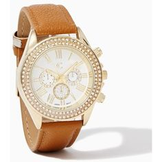 Glow on Ahead Watch ($25) ❤ liked on Polyvore featuring jewelry and watches